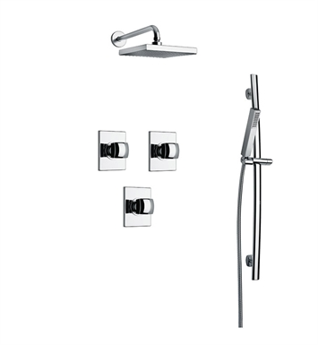 LaToscana LA-OPTION-3VC Lady 3VC Shower System with Showerhead, Slidebar and Handshower