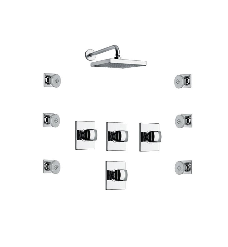 LaToscana LA-OPTION-5VC Lady 5VC Shower System with Showerhead and 6 Body Jets