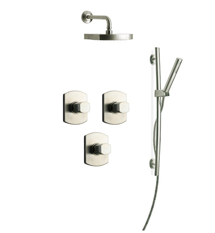 LaToscana NO-OPTION-3VC Novello 3VC Shower System with Showerhead, Slidebar and Handshower