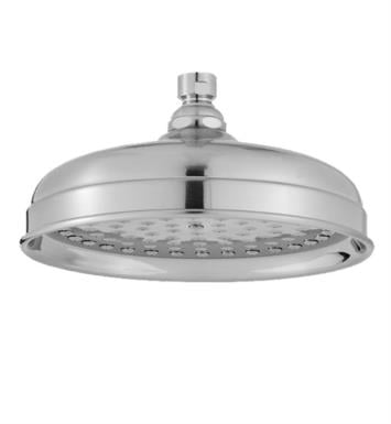 "Jaclo S185-PN Roaring 20'S Lorenzo 8 1/8"" Wall/Ceiling Mount Single-Function Showerhead With Finish: Polished Nickel And Flow Rate: 2.5 GMP"
