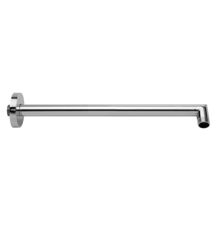 "Jaclo 8072 2 1/4"" Decorative 90 Degree Square and Round Combination Showerarm with Sliding Escutcheon"