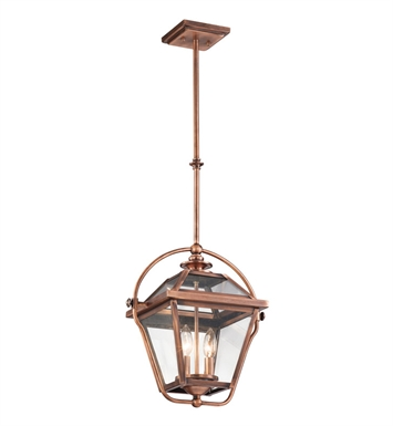 Kichler 42908ACO Ryegate Collection Pendant 2 Light in Antique Copper