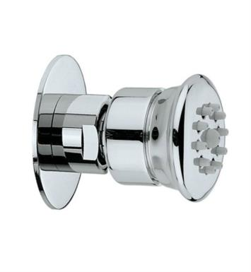 "Jaclo S025-PCU Cubix 1 3/4"" Wall Mount Single-Function Nebulizing Mist Round Body Spray With Finish: Polished Copper And Escutcheon: Jaclo 6018 ½"" Multifit Traditional Design Escutcheon"