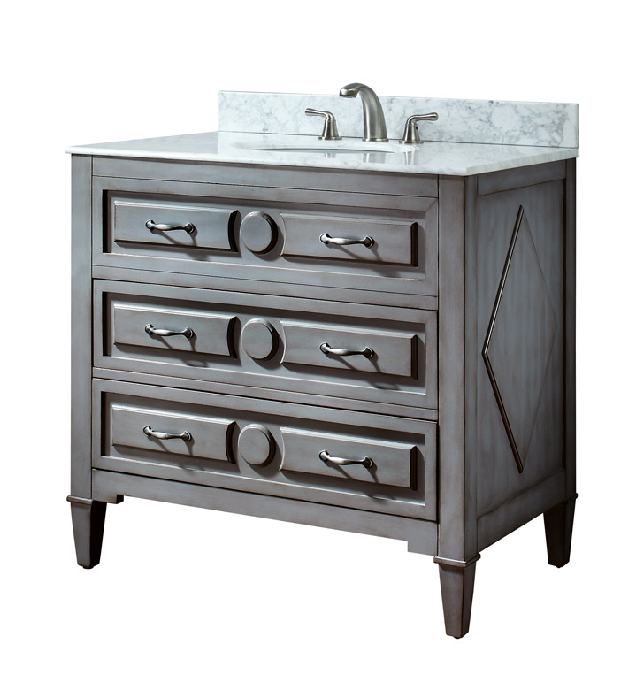 "Avanity KELLY-V36-GB Kelly 36"" Gray Blue Bathroom Vanity"