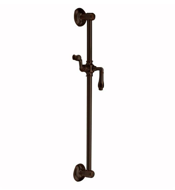 "Jaclo 7424-TB 26 3/4"" Retro Traditional Wall Bar with Roaring 20's Lever Handle With Finish: Tristan Brass"
