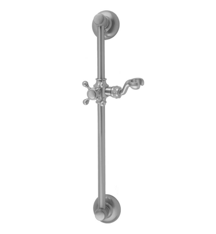 "Jaclo 7824-SN 26 3/4"" Retro Traditional Wall Bar with Cross Handle With Finish: Satin Nickel"