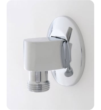 Jaclo 6001-SC 90° Water Supply Elbow with Escutcheon With Finish: Satin Chrome