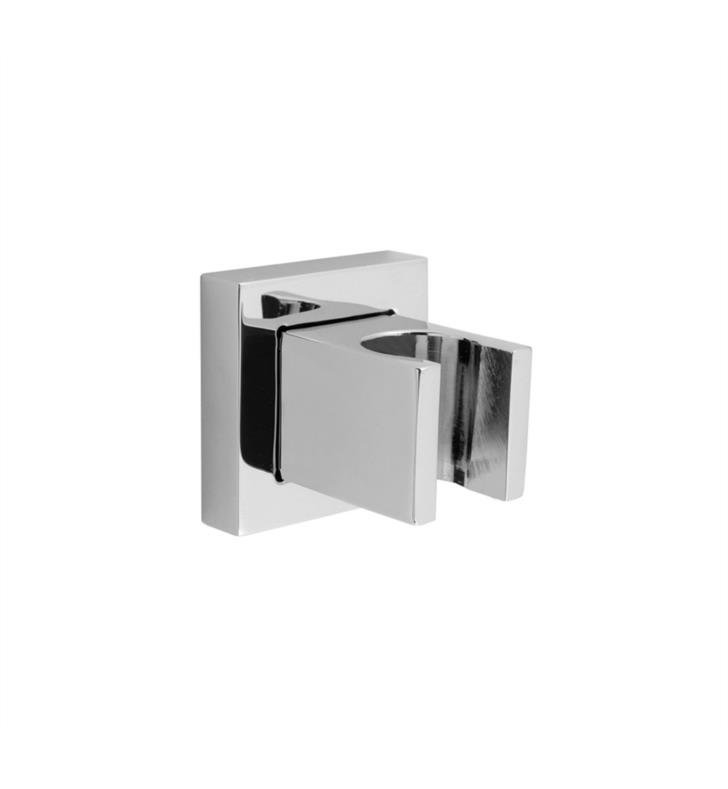 "Jaclo 8749-SN Cubix 2"" Stationary Wall Mount Bracket for Handshower With Finish: Satin Nickel"