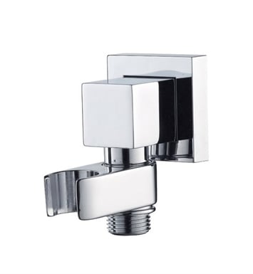 Jaclo 8716-PCH Cubix Water Supply Elbow with Handshower Holder With Finish: Polished Chrome