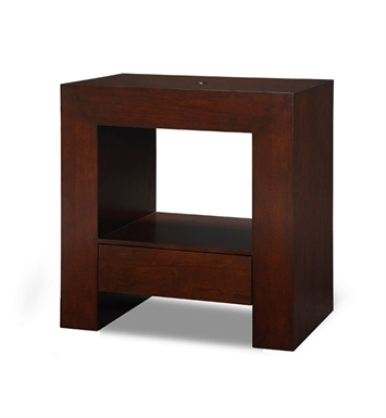 "Ryvyr V-PURUS-30DW PURUS 30"" Modern Bathroom Vanity in Dark Walnut Finish"