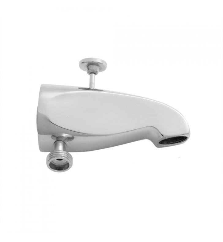 "Jaclo 2008-PB 5"" Wall Mount Brass Diverter Tub Spout with Handshower Outlet With Finish: Polished Brass"