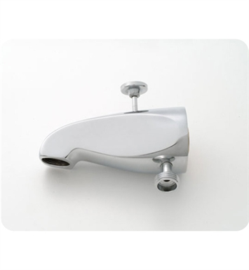 Jaclo 2008-PEW Decorative Tub Spout with Diverter & Handshower Outlet With Finish: Pewter
