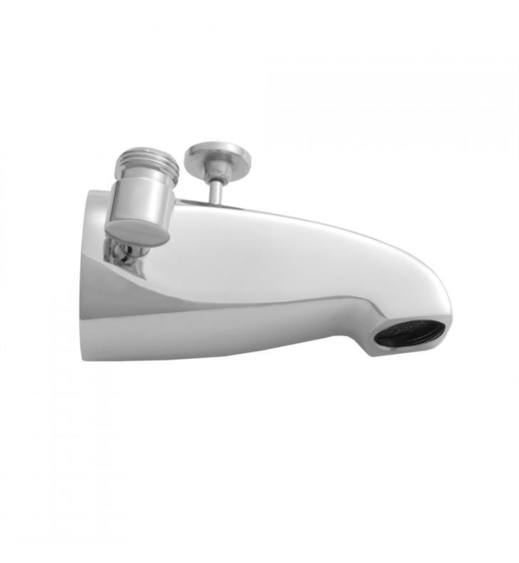 "Jaclo 2009 5"" Wall Mount Brass Diverter Tub Spout with Handshower Outlet"