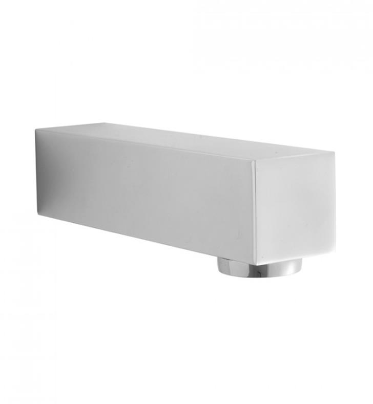 "Jaclo 2713-PN Cubix 7"" Wall Mount Brass Tub Spout With Finish: Polished Nickel"