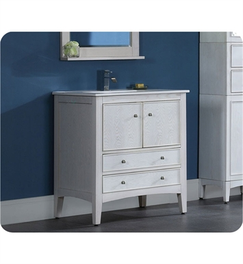 "Ryvyr V-KENT-30WW KENT 30"" Bathroom Vanity in Whitewash Finish"