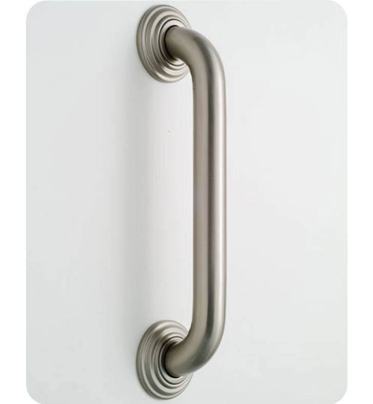 Jaclo 2512-PCH Deluxe Grab Bar with Traditional Round Flange With Finish: Polished Chrome