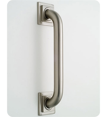 Jaclo 2712-TB Deluxe Grab Bar with Contemporary Square Flange With Finish: Tristan Brass