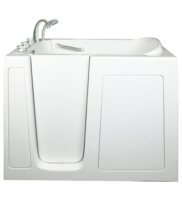 Ella 305214L Low 3.5 inch Threshold Walk In Bathtub With Jet Mode: Dual Massage And Drain Position: Left Side Door/Drain