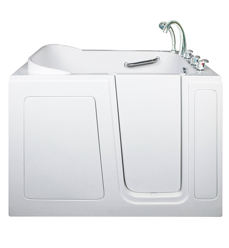 "Ella 284802R Short 28 x 48"" Walk In Bathtub With Jet Mode: Air Massage And Drain Position: Right Side Door/Drain"