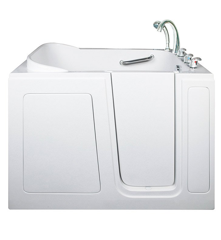 "Ella 284803L Short 28 x 48"" Walk In Bathtub With Jet Mode: Hydro Massage And Drain Position: Left Side Door/Drain"