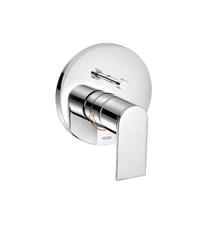 Keuco 53072010281 Edition 300 Concealed Single Lever Bath Tub Mixer with Safety Device