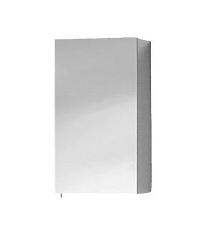 Keuco 05621171200 Royal 30 Left Hand Mirror Cabinet with Silver Anodized Body Finish