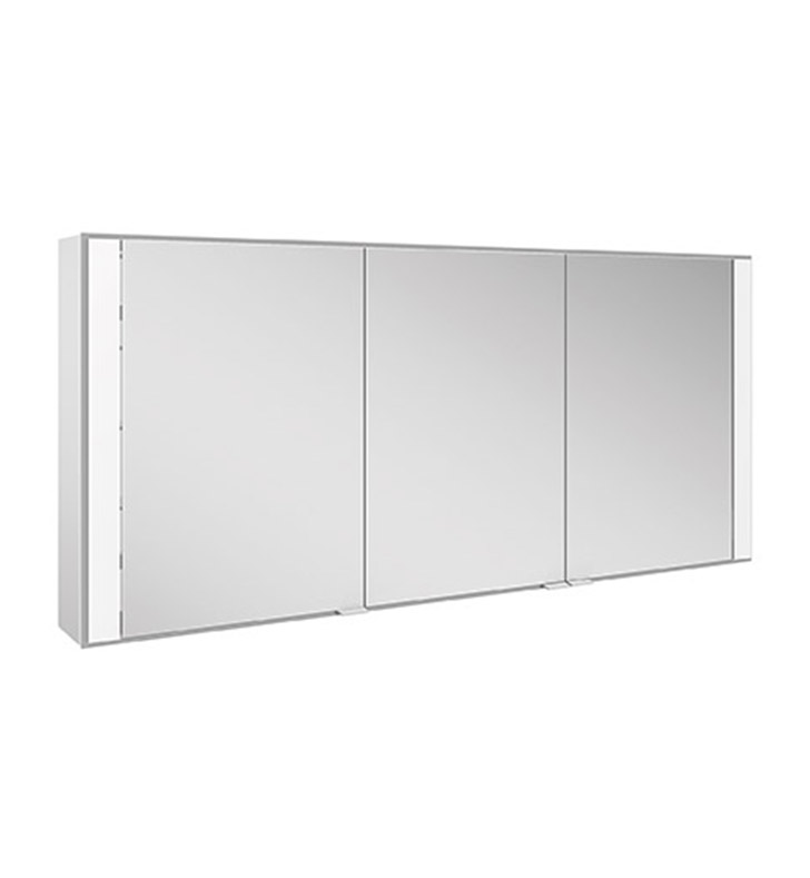 Keuco 22113171351 Royal 60 Recess Mount Mirror Cabinet with Silver Anodized Body Finish