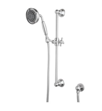 "Rohl 1311 21 5/8"" Wall Mount Multi-Function Handshower and Slidebar Set with Brass Handle"