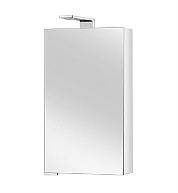 Keuco 12701171151 Royal Universe Mirror Cabinet with Right Hand Hinge - Silver Anodized Body and Chrome Plated Light Shades