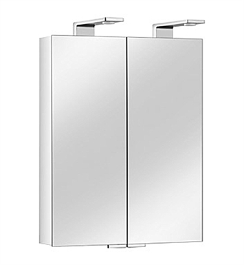 Keuco 12702171351 Royal Universe Mirror Cabinet with Silver Anodized Body and Chrome Plated Light Shades