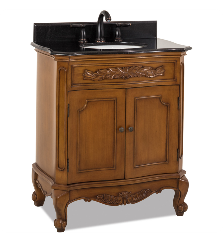 Hardware Resources VAN060-T Clairemont Warm Caramel Vanity with Preassembled Top and Bowl by Bath Elements