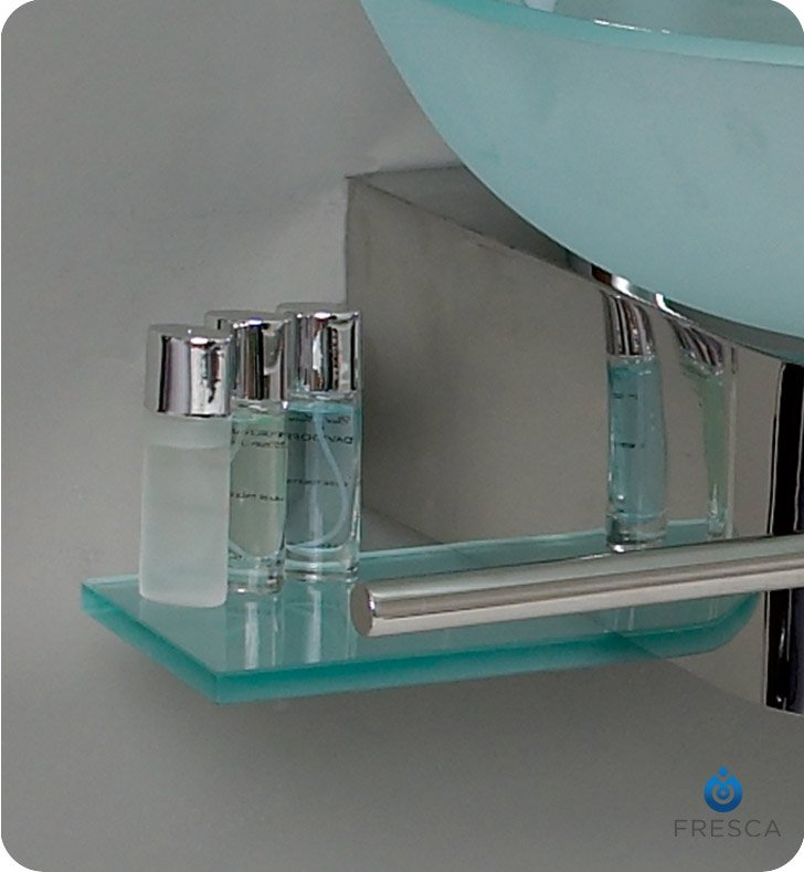Fresca FVN Cristallino Modern Glass Bathroom Vanity With - Fresca cristallino glass bathroom vanity