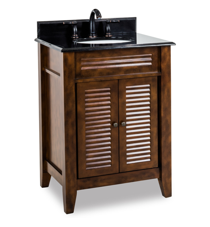 Hardware Resources VAN078-T Lindley Nutmeg Vanity with Preassembled Top and Bowl by Bath Elements