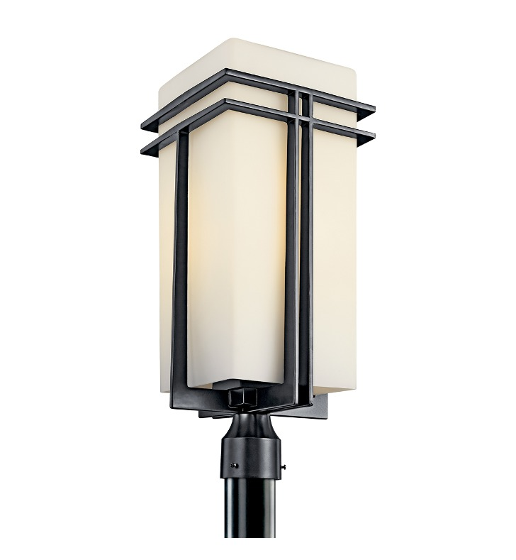 Kichler 49204BKFL Tremillo Collection Outdoor Post Mount 1 Light Fluorescent in Black