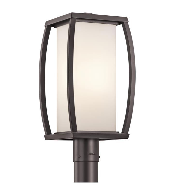 Kichler 49342AZ Bowen 1 Light Incandescent Outdoor Post Mount Lantern in Architectural Bronze
