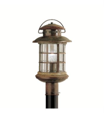 Kichler 9962RST Rustic 1 Light Incandescent Outdoor Post Mount Lantern in Rustic finish