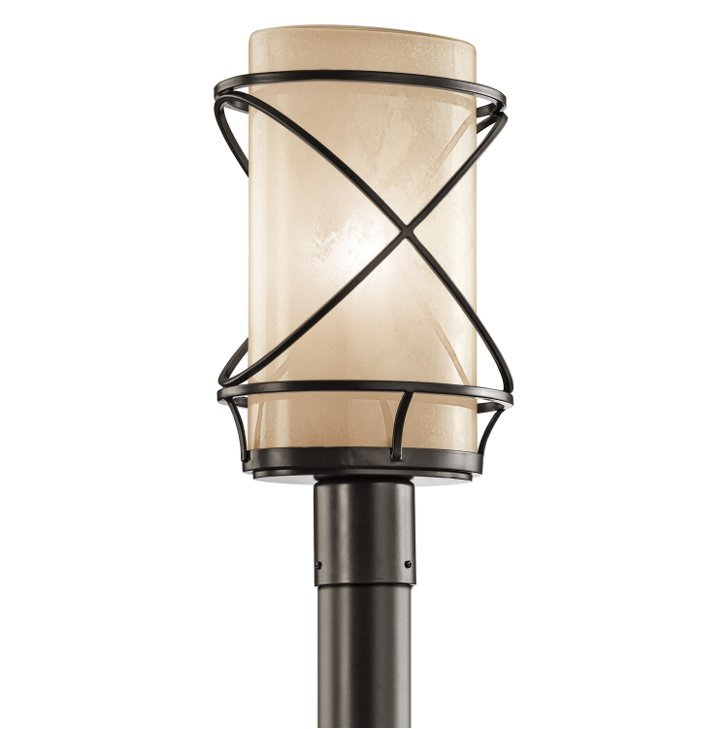 Kichler 49360AZ Outdoor Post Mount 1 Lt in Architectural Bronze