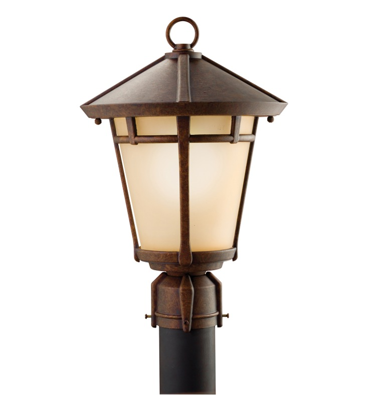 Kichler 9955AGZ Outdoor Post Mount 1 Light in Aged Bronze