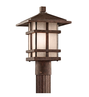 Kichler 9527AGZ Outdoor Post Mount 1 Light in Aged Bronze