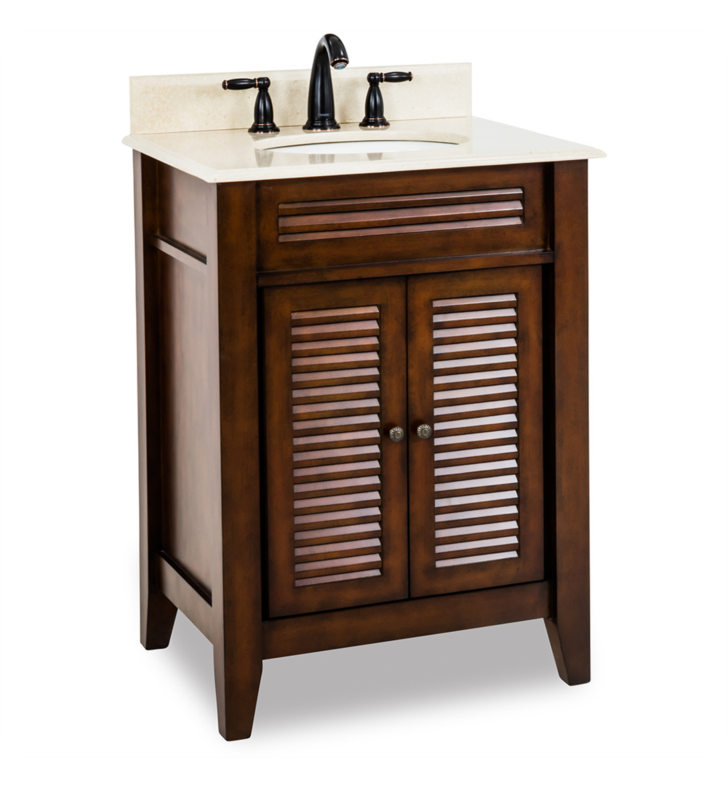 Hardware Resources VAN078-T-MC Traditional Bathroom Vanity by Bath Elements