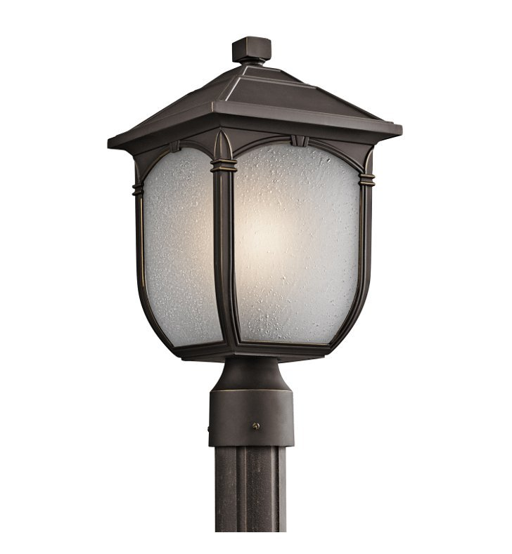 Kichler 49431RZ Outdoor Post Mount 1 Light in Rubbed Bronze