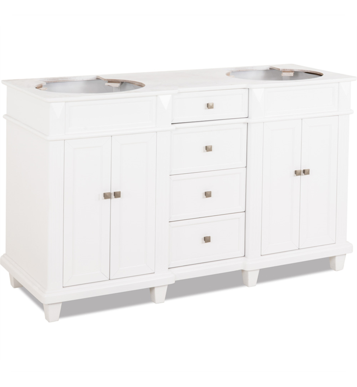 Hardware Resources VAN094D-60-NT Traditional Bathroom Vanity by Bath Elements