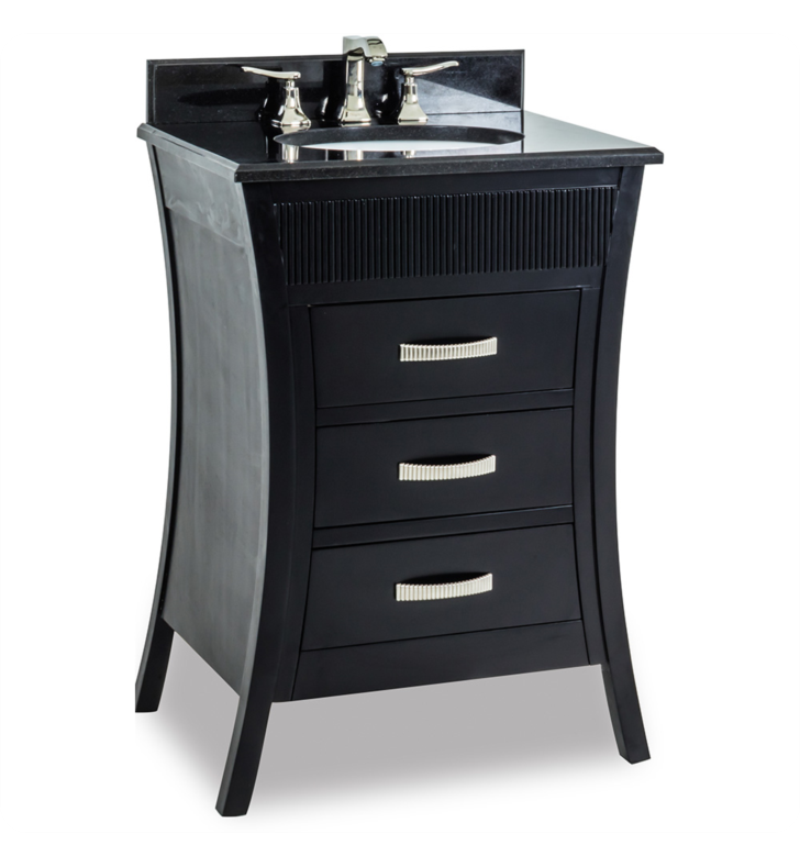 Hardware Resources VAN032-T Barcelona Vanity with Preassembled Top and Bowl from Lyn Design