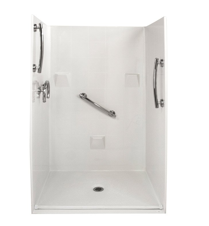 "Ella 4836BF4P.875C-FRDM-WH Freedom Barrier Free Roll In Shower Kit - 48"" x 37"" With Finish: White"