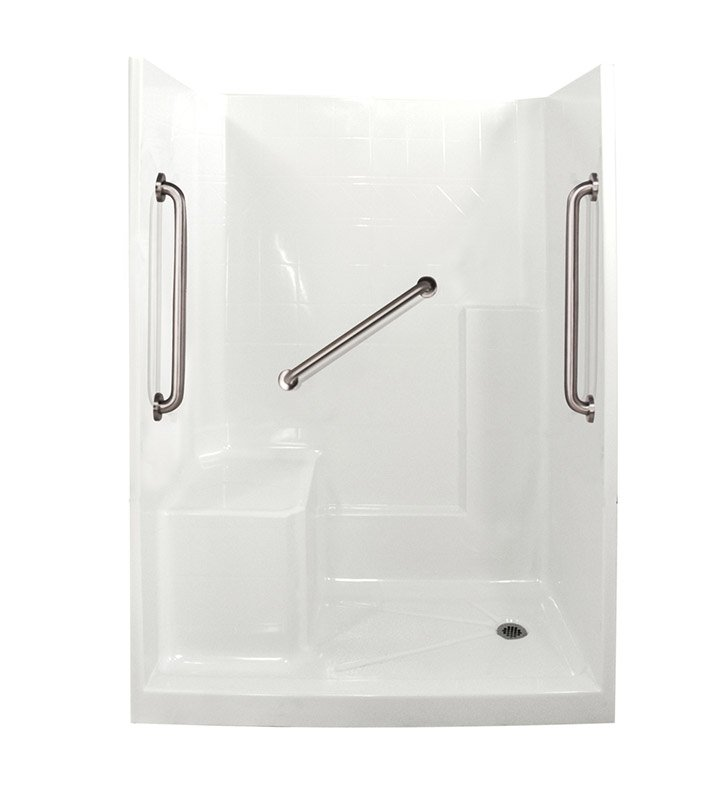 "Ella 6032SHIS3P-SP24 Standard Plus 24 Low Threshold Shower Kit - 60"" x 33"""
