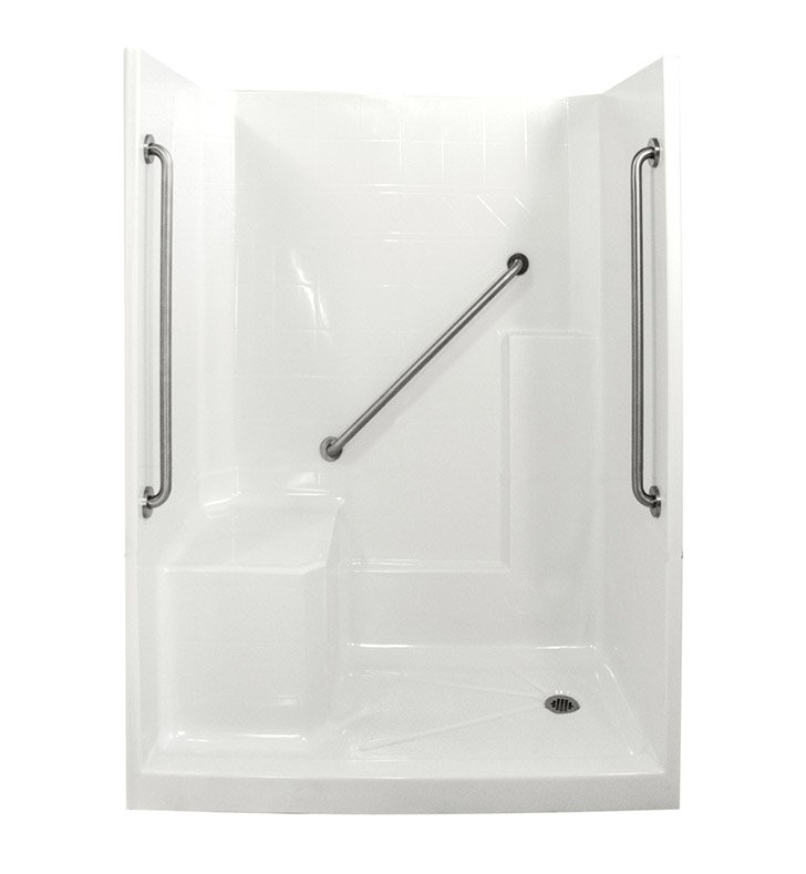 "Ella 6032SHIS3P-SP36 Standard Plus 36 Low Threshold Shower Kit - 60"" x 33"""