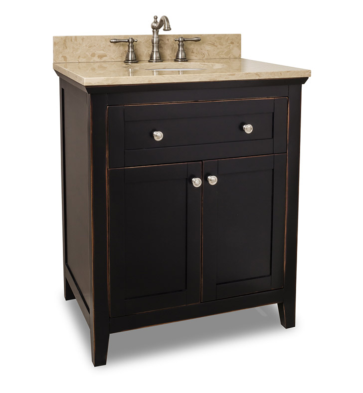 Hardware Resources VAN093-30-T Traditional Bathroom Vanity by Bath Elements