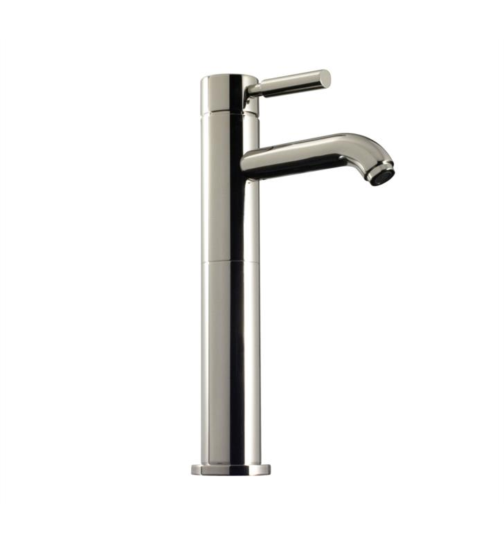 "Santec 2681EK80 Caprie Single Lever Extended Lavatory with EK Handle (Drain Assembly Not Included) Spout CxC 5-1/2"", Height of Spout End from Base 11-3/4"" With Finish: Standard Pewter <strong>(USUALLY SHIPS IN 4-5 WEEKS)</strong>"