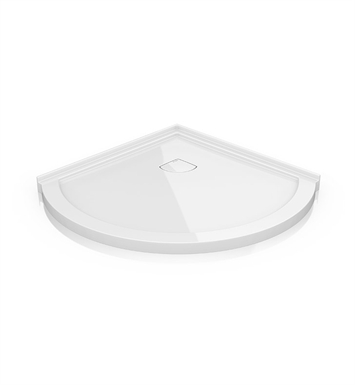 "Fleurco ALB40-18 Arc Acrylic Low Profile Corner Shower Base - Concealed Drain Model With Base Size: 40"" x 40"" x 2"" And Finish: White"