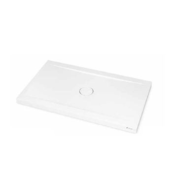 "Fleurco ASPE3648-18 Petra Rectangular Solid Surface Shower Base - Concealed Center Drain Model With Base Size: 48"" x 36"" x 3"" And Finish: White"